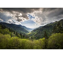 Great Smoky Mountains Landscape Photography - Spring at Mortons Overlook Photographic Print