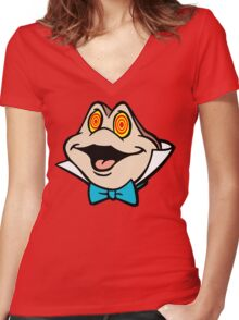 Mr. Toad Women's Fitted V-Neck T-Shirt