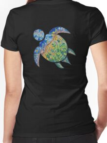 Adventure Turtle Women's Fitted V-Neck T-Shirt