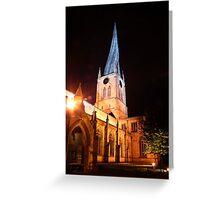 spire at night Greeting Card