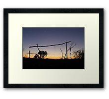 Outback campsite Framed Print