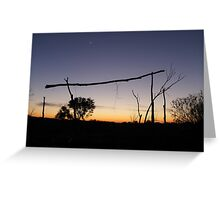 Outback campsite Greeting Card