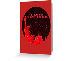 I LOVE NEW YORK RED OVAL  Greeting Card
