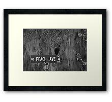 Peach Ave Framed Print