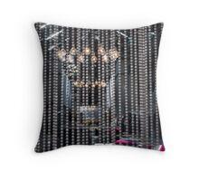 Chain Curtain Throw Pillow