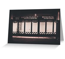 42nd St Times Square Station Greeting Card