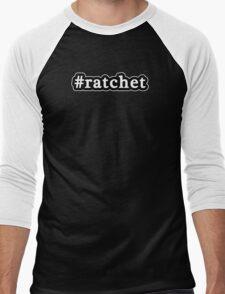 Ratchet - Hashtag - Black & White Men's Baseball ¾ T-Shirt