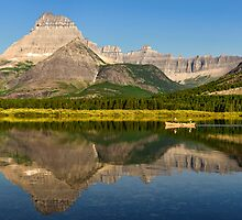 Rowing on Swiftcurrent Lake by JimGuy