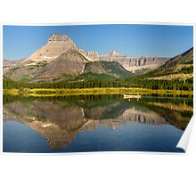 Rowing on Swiftcurrent Lake Poster