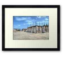 Building Construction in Paradise Island, The Bahamas Framed Print