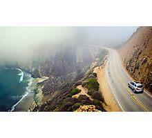 Car Into Fog Photographic Print