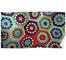 Crochet Kaleidoscope Poster