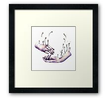I hope one day you find someone who makes flowers grow in even the saddest parts of you. Framed Print