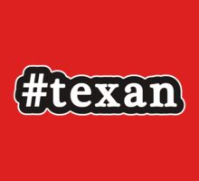 Texan - Hashtag - Black & White by graphix