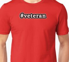 Veteran - Hashtag - Black & White Unisex T-Shirt