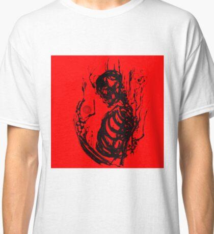 Black Ink Skeleton Red Classic T-Shirt