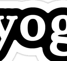 Yoga - Hashtag - Black & White Sticker