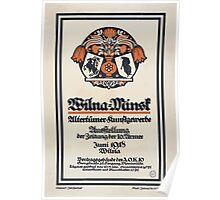 Wilna Minsk Altertümer Kunstgewerbe Ausstellung der Zeitung der 10 Armee Juni 1918 Wilna 1133 Poster