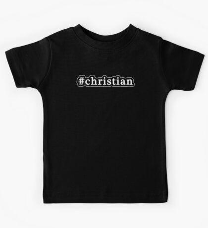 Christian - Hashtag - Black & White Kids Tee