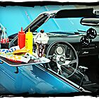 """""""Curb Service"""" in the Camero by Gail Jones"""