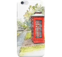 Telephone Boxes, Ross by Muriel Sluce iPhone Case/Skin
