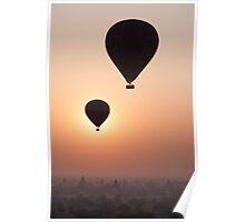 Balloons over Bagan Poster
