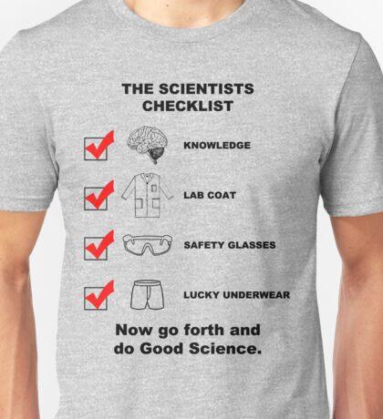The Scientists Checklist Unisex T-Shirt