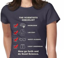 The Scientists Checklist Womens Fitted T-Shirt