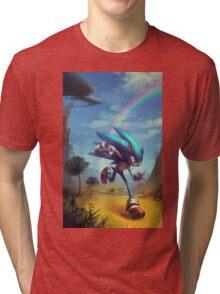 "Sonic the Hedgehog Fan Art - ""Time Doesn't Wait"" Tri-blend T-Shirt"