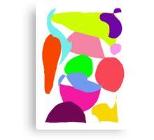Carrot Peach Eggplant Soybean Sprinkler Canvas Print