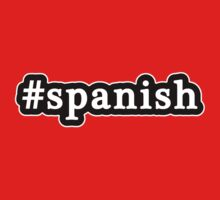 Spanish - Hashtag - Black & White by graphix