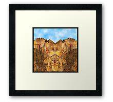 Monument Valley (Sunflower Version) Framed Print