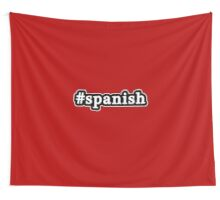 Spanish - Hashtag - Black & White Wall Tapestry