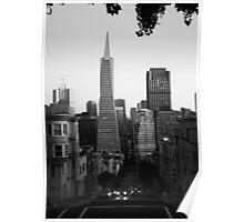 TransAmerica from Montgomery Street. San Francisco 2012 Poster