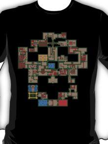 8BIT Skull Map T-Shirt