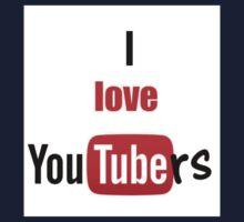 I love youtubers Kids Tee