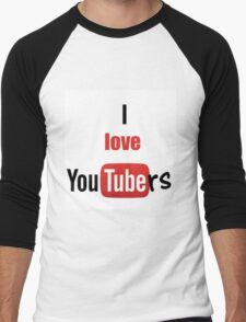 I love youtubers Men's Baseball ¾ T-Shirt
