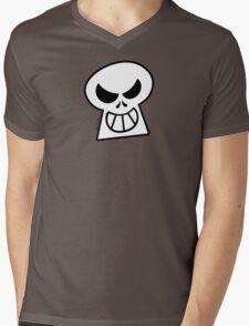 Naughty Halloween Skull Mens V-Neck T-Shirt