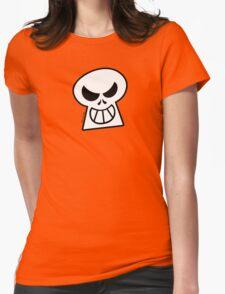 Naughty Halloween Skull Womens Fitted T-Shirt