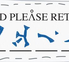 If Found, Please Return To... Sticker