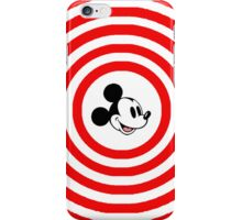 Mickey red and white  iPhone Case/Skin