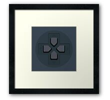 PS Controller D-Pad Framed Print