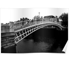 Ha'penny Bridge Dublin Poster