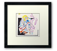 Night Drawings - Les Dessins de Nuit n°56  - Scaphandre Bleu Framed Print