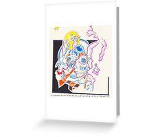 Night Drawings - Les Dessins de Nuit n°56  - Scaphandre Bleu Greeting Card