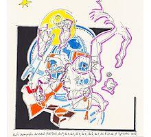 Night Drawings - Les Dessins de Nuit n°56  - Scaphandre Bleu Photographic Print