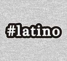 Latino - Hashtag - Black & White One Piece - Long Sleeve