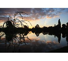 Sunset over Water Photographic Print