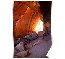 Inside Ayers Rock Poster