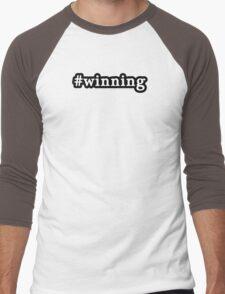Winning - Hashtag - Black & White Men's Baseball ¾ T-Shirt